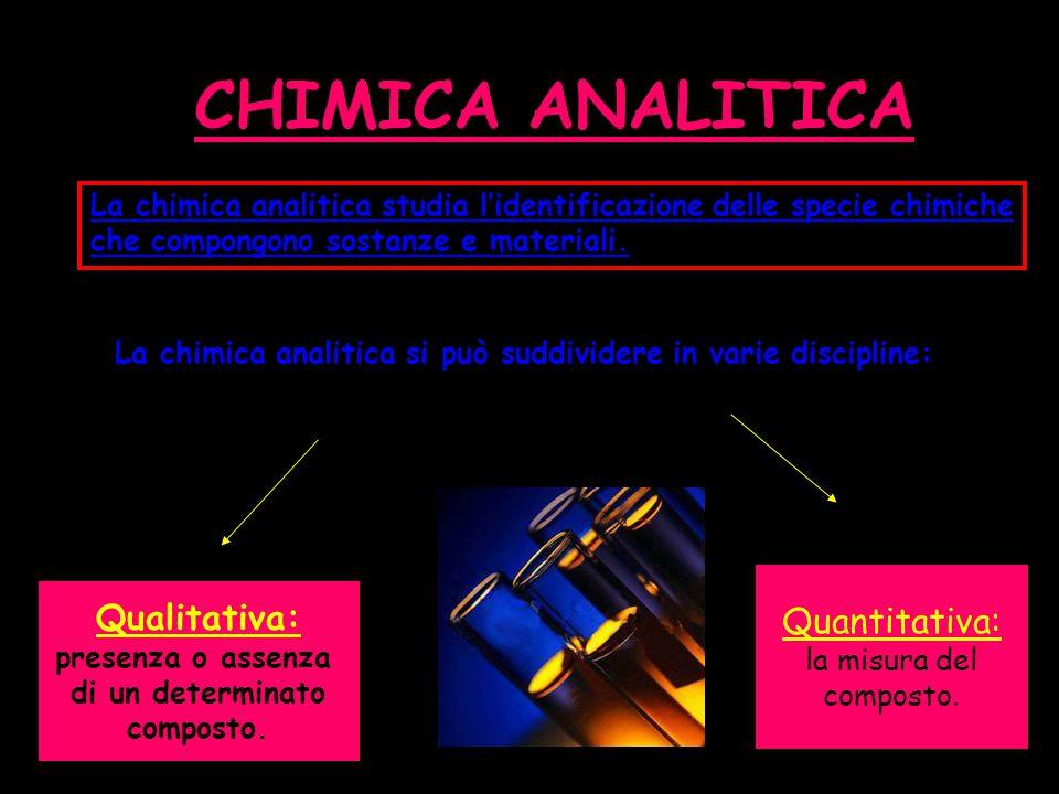 CHIMICA ANALITICA Quantitativa: Qualitativa:
