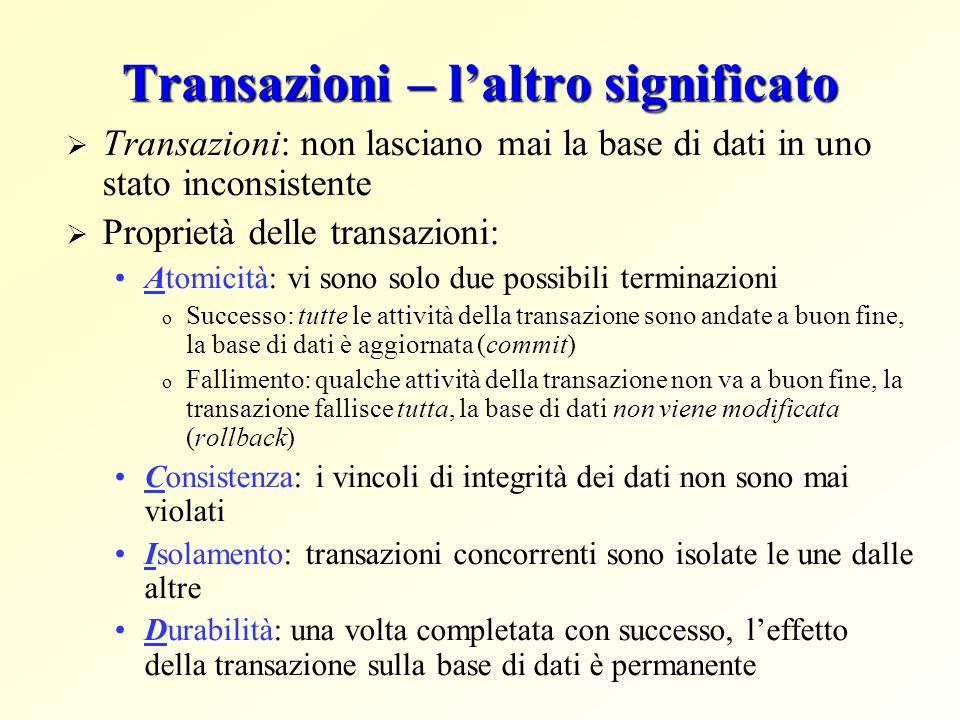Transazioni – l'altro significato