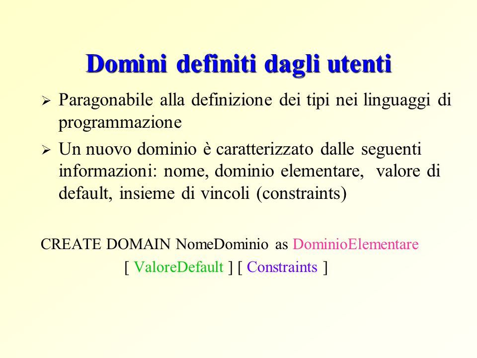 Domini definiti dagli utenti