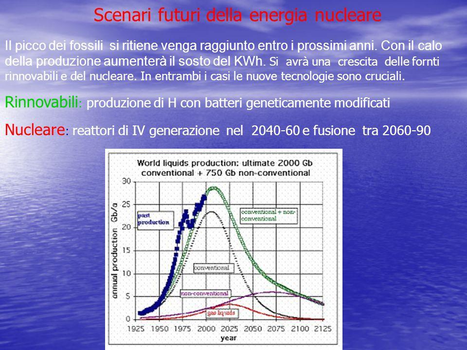 Scenari futuri della energia nucleare