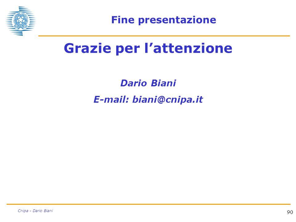 Grazie per l'attenzione E-mail: biani@cnipa.it