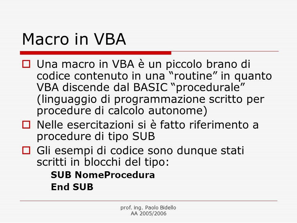Macro in VBA