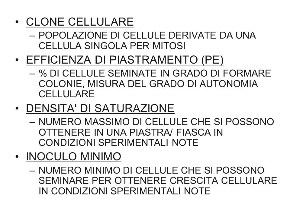 EFFICIENZA DI PIASTRAMENTO (PE)