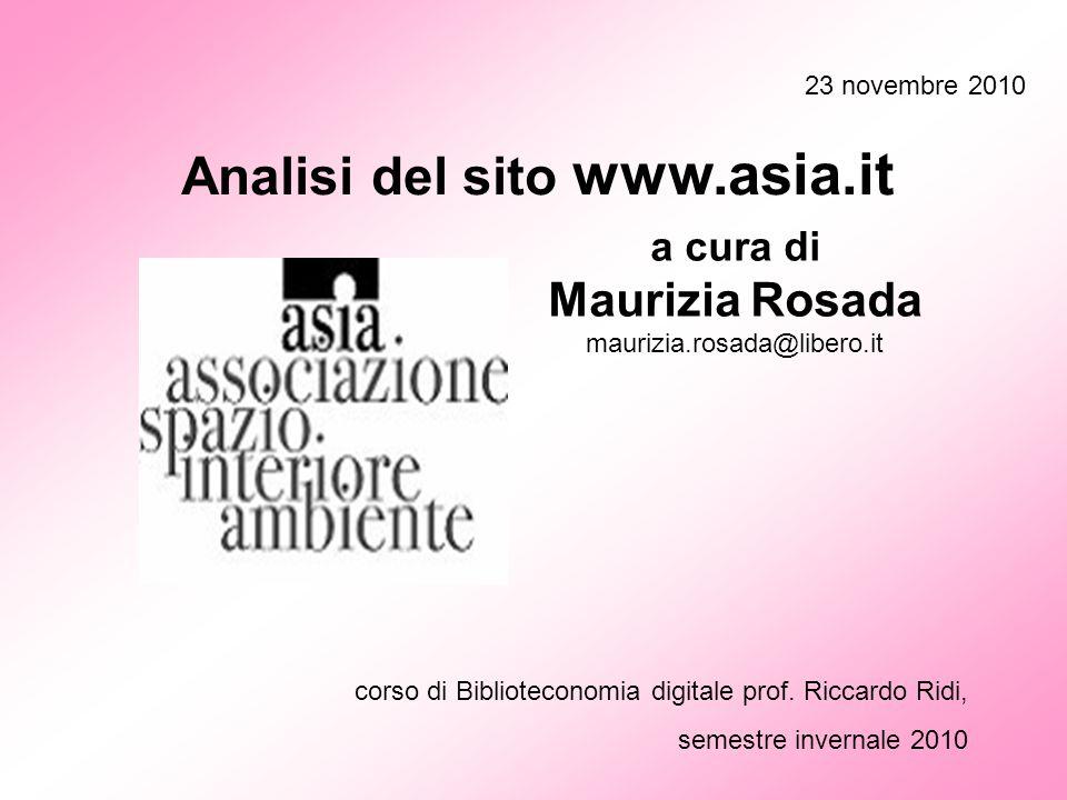 Analisi del sito www.asia.it