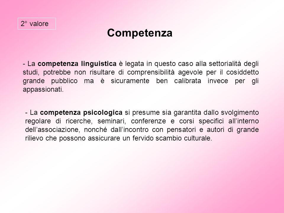 2° valore Competenza.