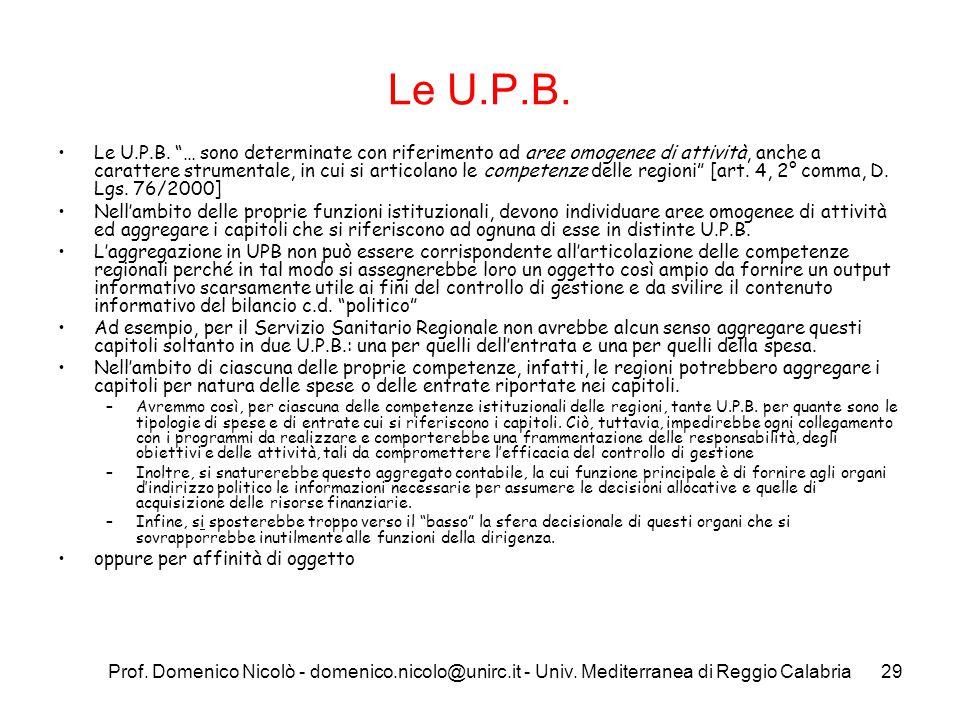 Le U.P.B.