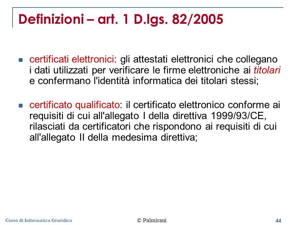 Definizioni – art. 1 D.lgs. 82/2005