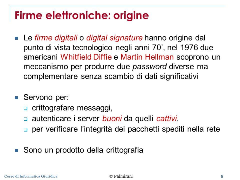 Firme elettroniche: origine