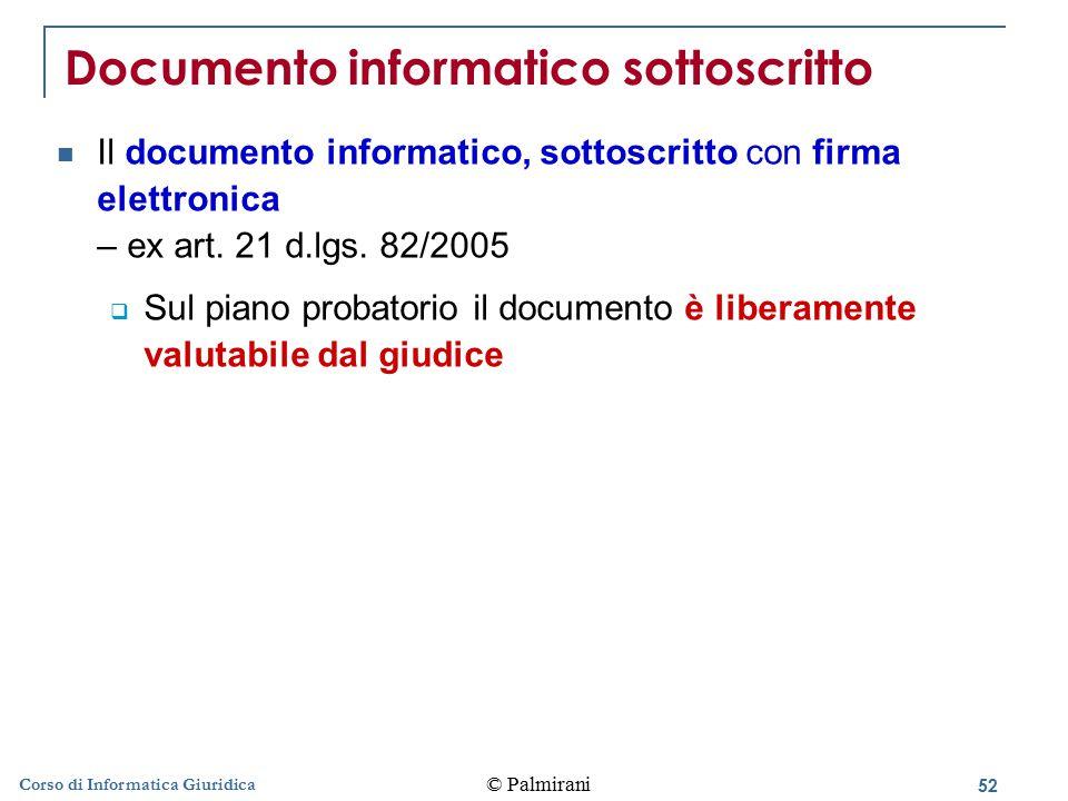 Documento informatico sottoscritto