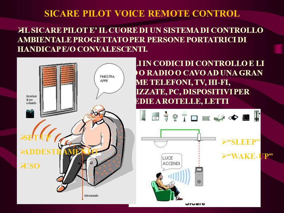 SICARE PILOT VOICE REMOTE CONTROL