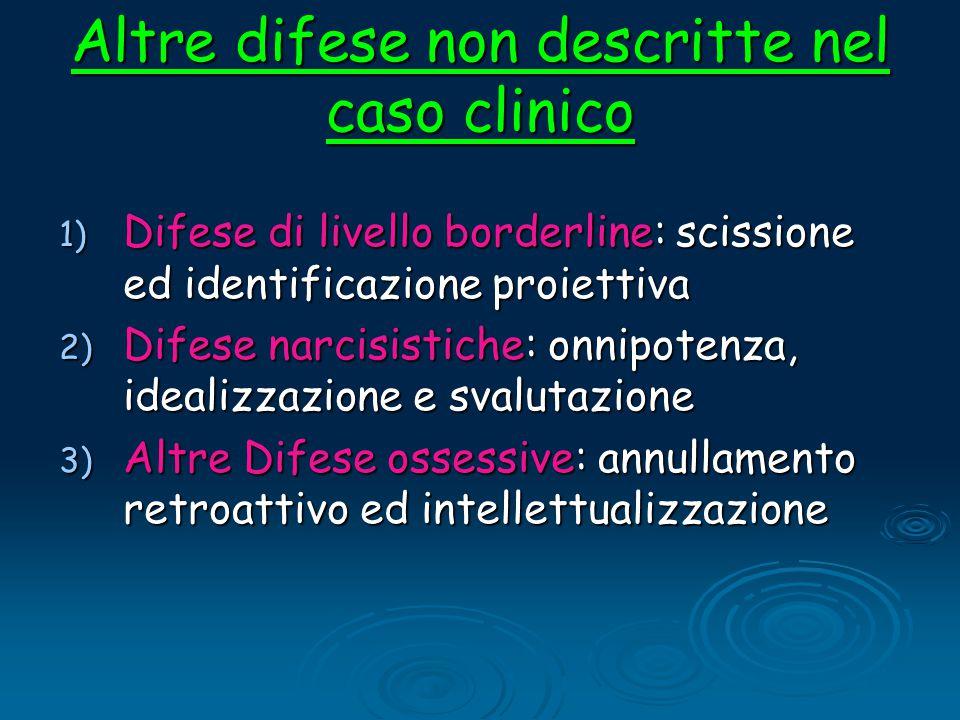 Altre difese non descritte nel caso clinico