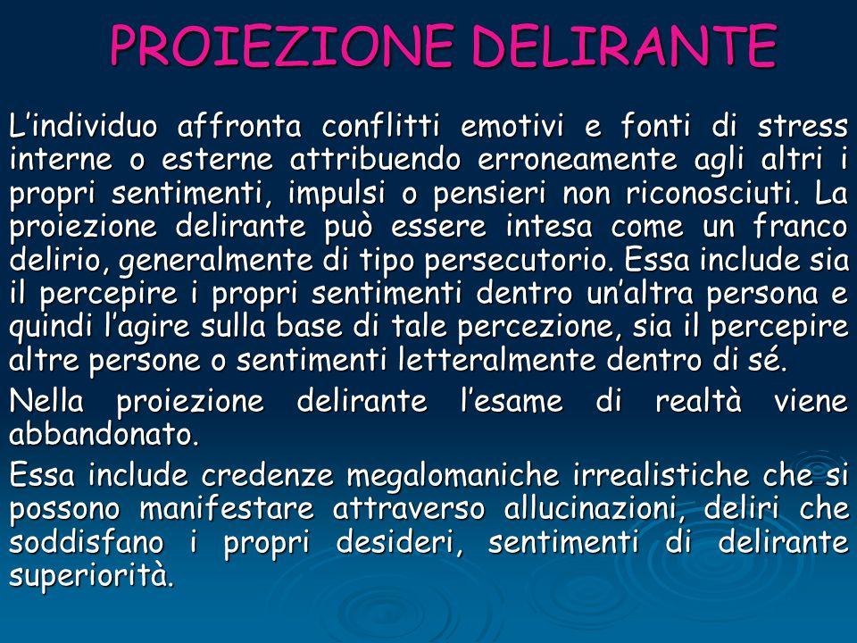 PROIEZIONE DELIRANTE