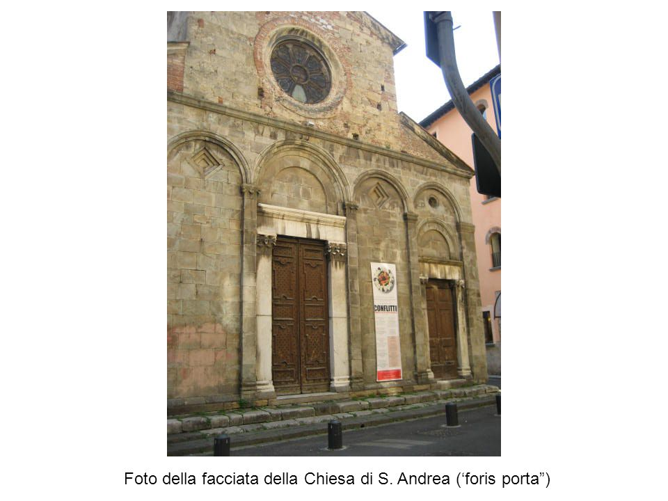 Foto della facciata della Chiesa di S. Andrea ('foris porta )