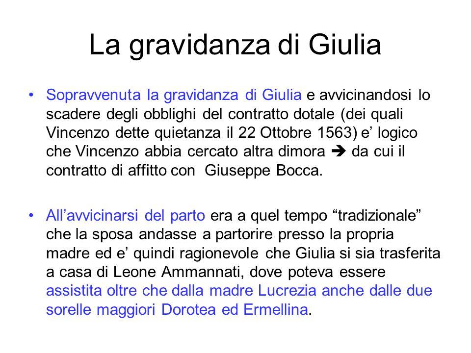 La gravidanza di Giulia
