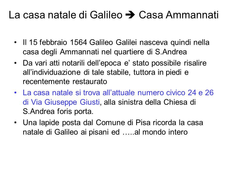 La casa natale di Galileo  Casa Ammannati