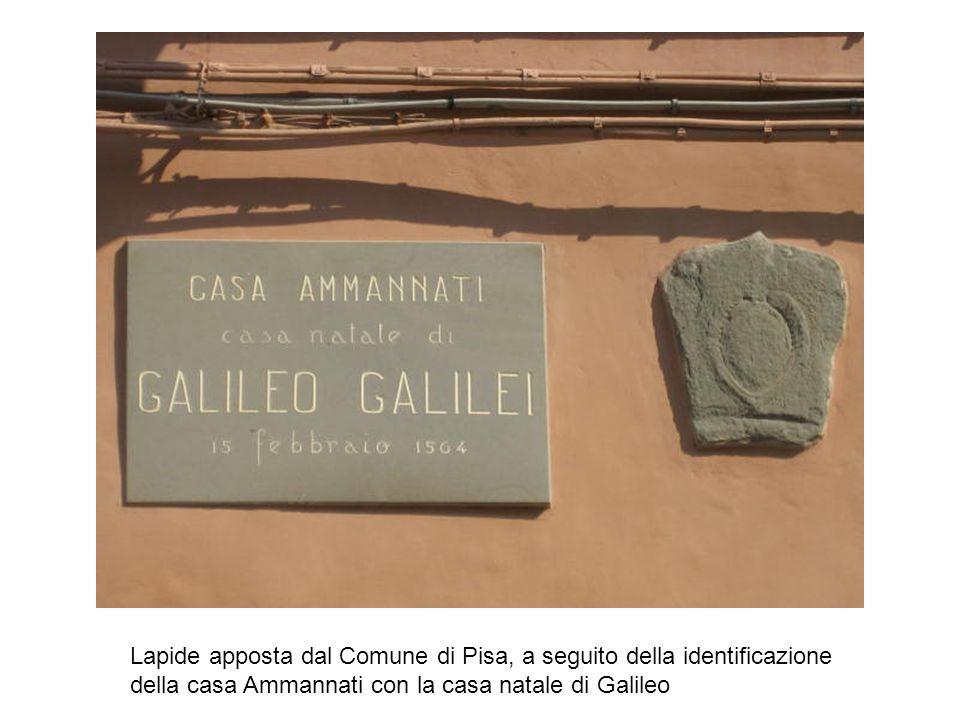 Lapide apposta dal Comune di Pisa, a seguito della identificazione