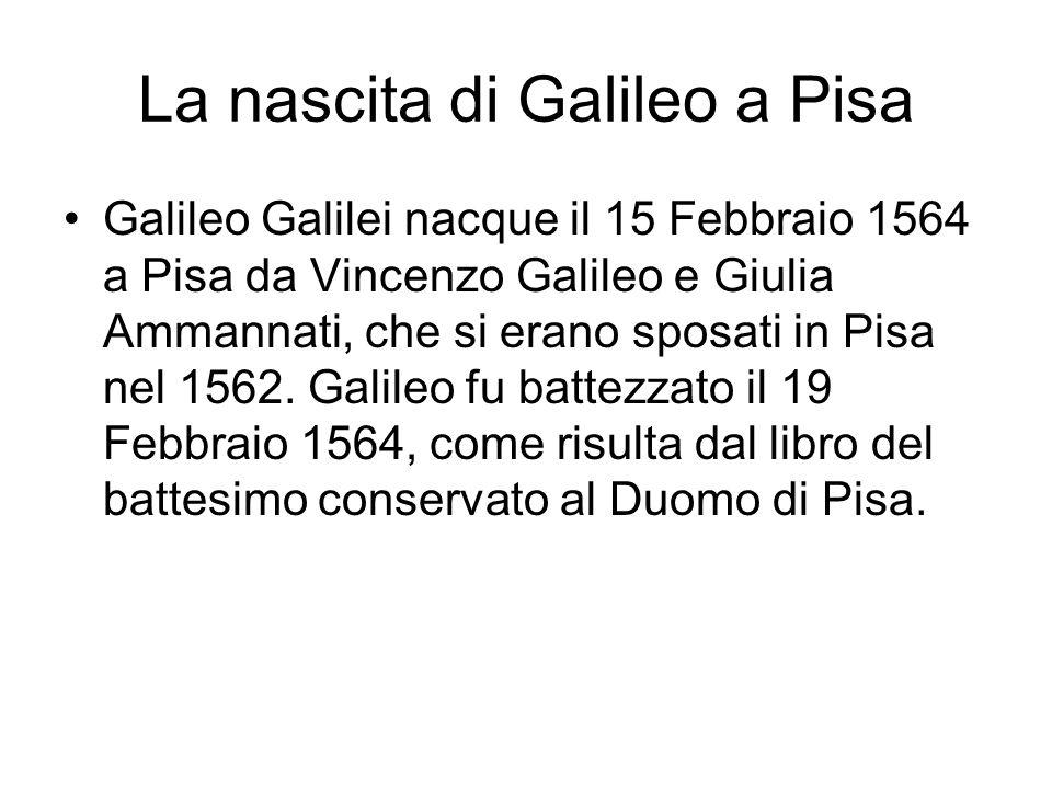 La nascita di Galileo a Pisa