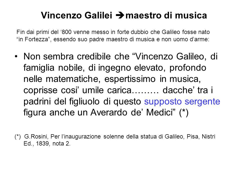Vincenzo Galilei maestro di musica