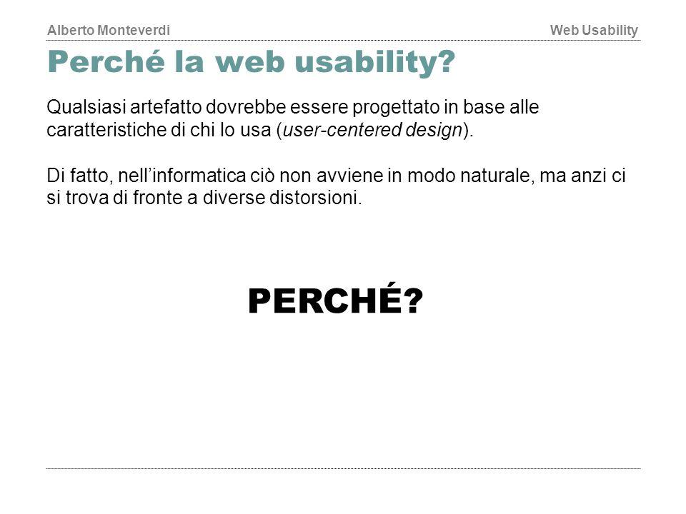 Perché la web usability