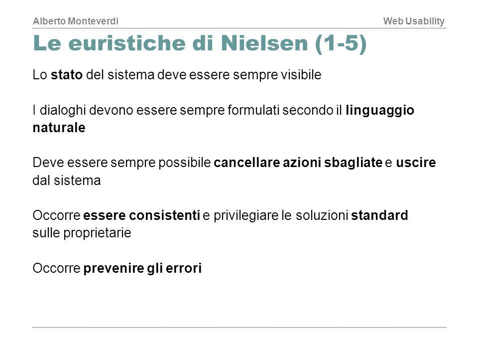Le euristiche di Nielsen (1-5)