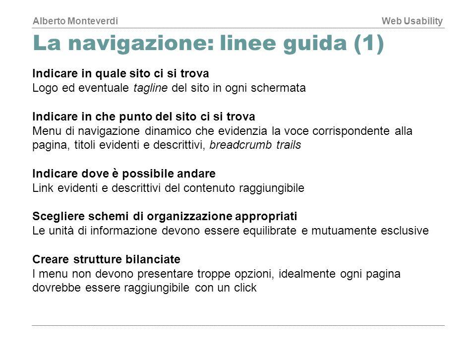 La navigazione: linee guida (1)