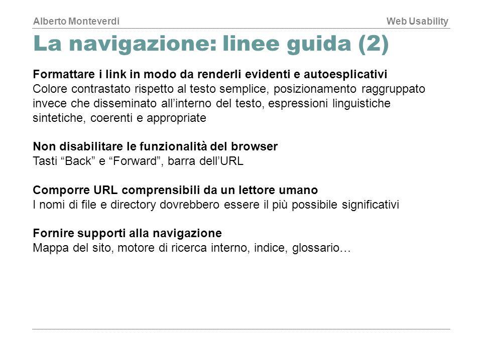 La navigazione: linee guida (2)