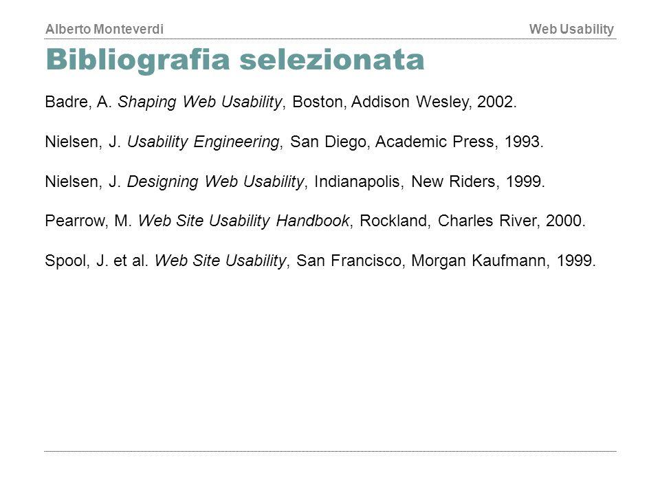 Bibliografia selezionata