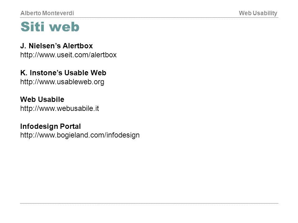 Siti web J. Nielsen's Alertbox http://www.useit.com/alertbox