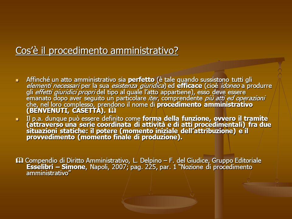 Cos'è il procedimento amministrativo