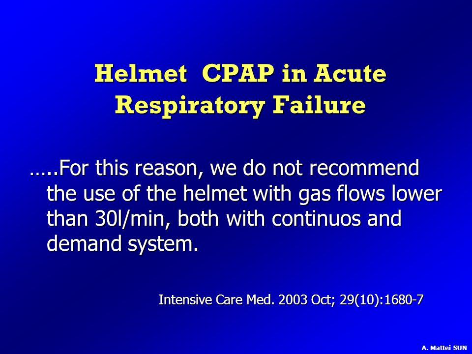Helmet CPAP in Acute Respiratory Failure