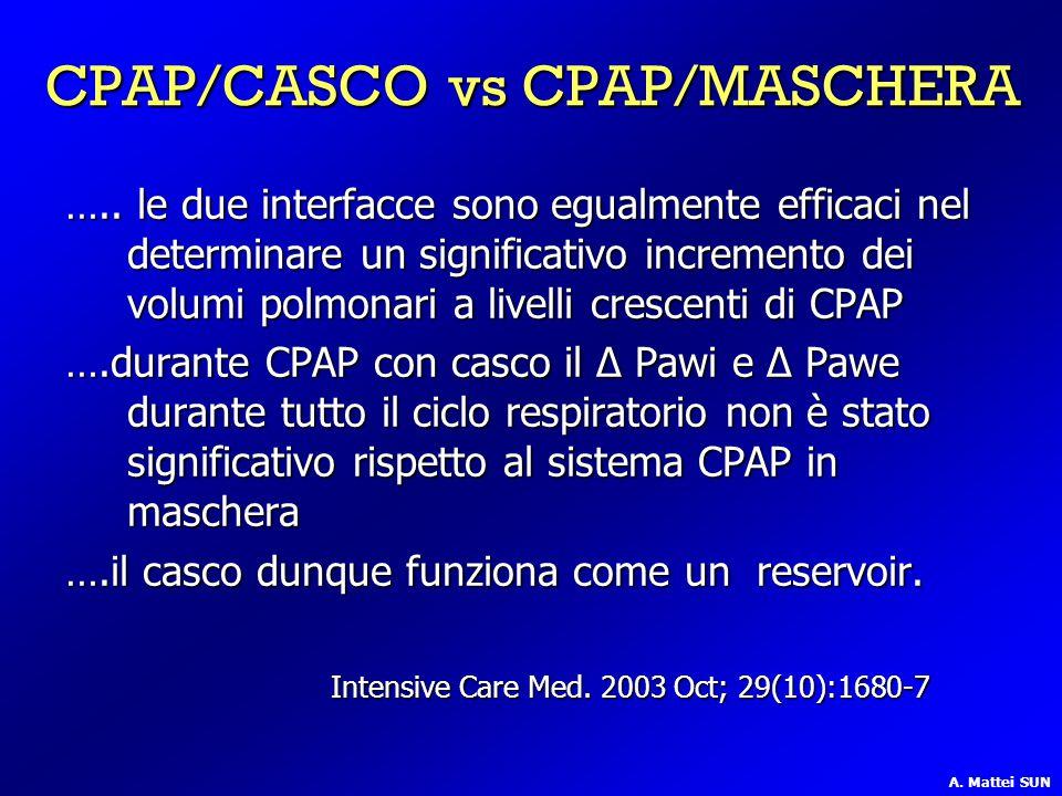 CPAP/CASCO vs CPAP/MASCHERA