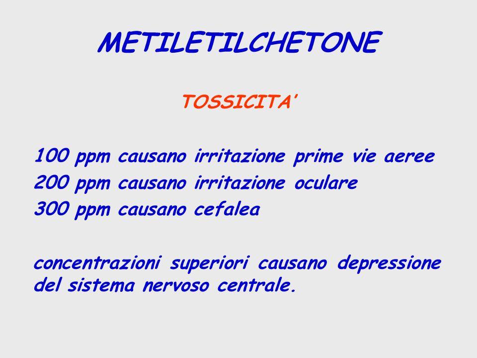 METILETILCHETONE TOSSICITA'