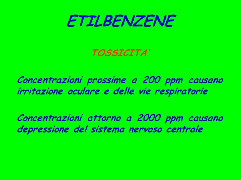 ETILBENZENE TOSSICITA'