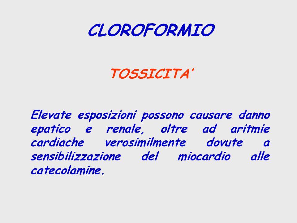 CLOROFORMIO TOSSICITA'