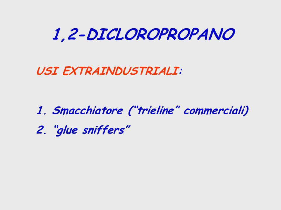 1,2-DICLOROPROPANO USI EXTRAINDUSTRIALI: