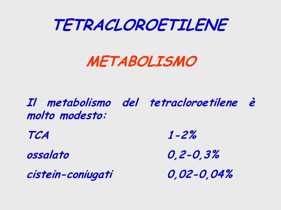 TETRACLOROETILENE METABOLISMO