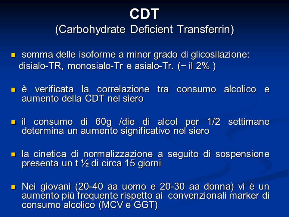 CDT (Carbohydrate Deficient Transferrin)