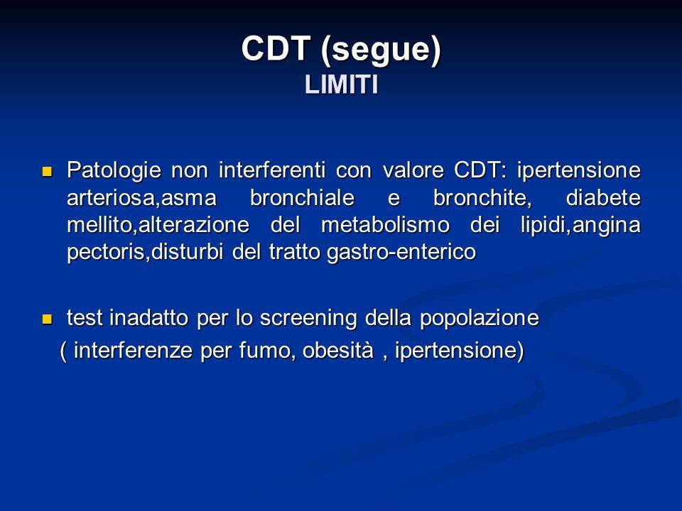CDT (segue) LIMITI