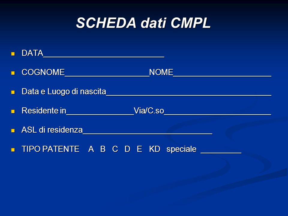 SCHEDA dati CMPL DATA___________________________