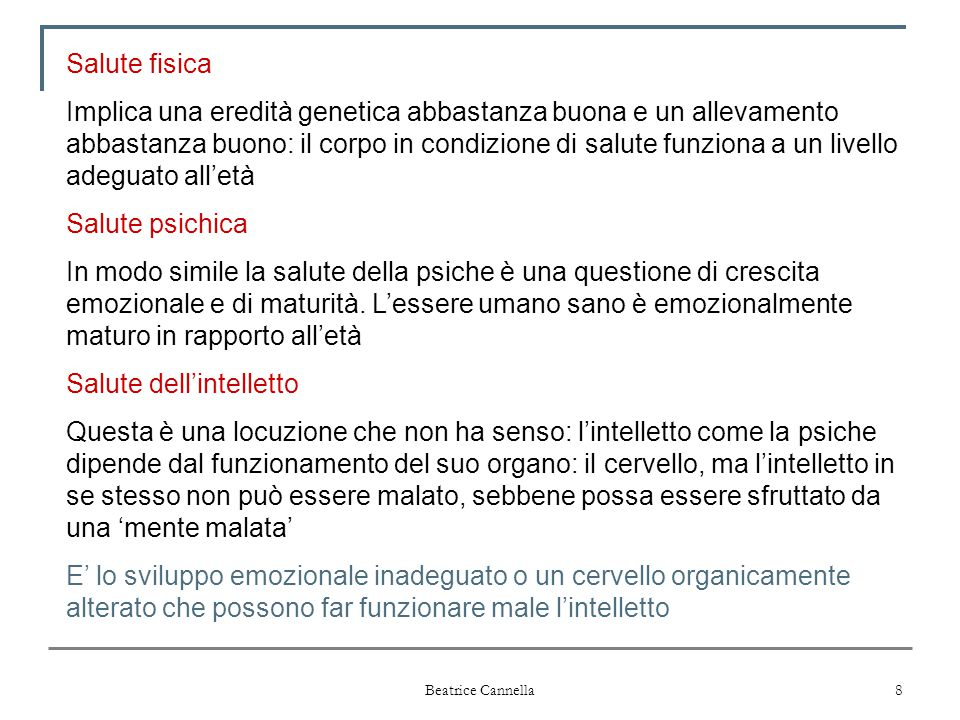 Salute dell'intelletto
