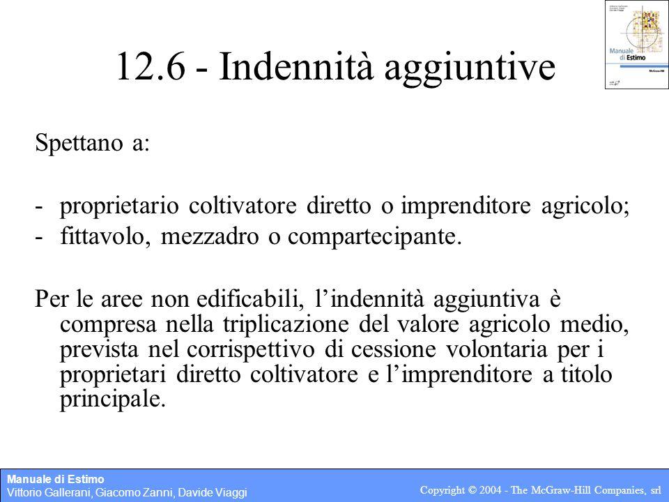 12.6 - Indennità aggiuntive