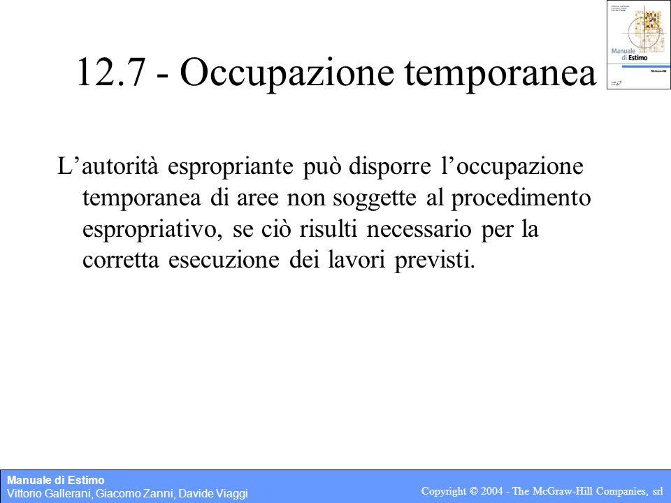 12.7 - Occupazione temporanea