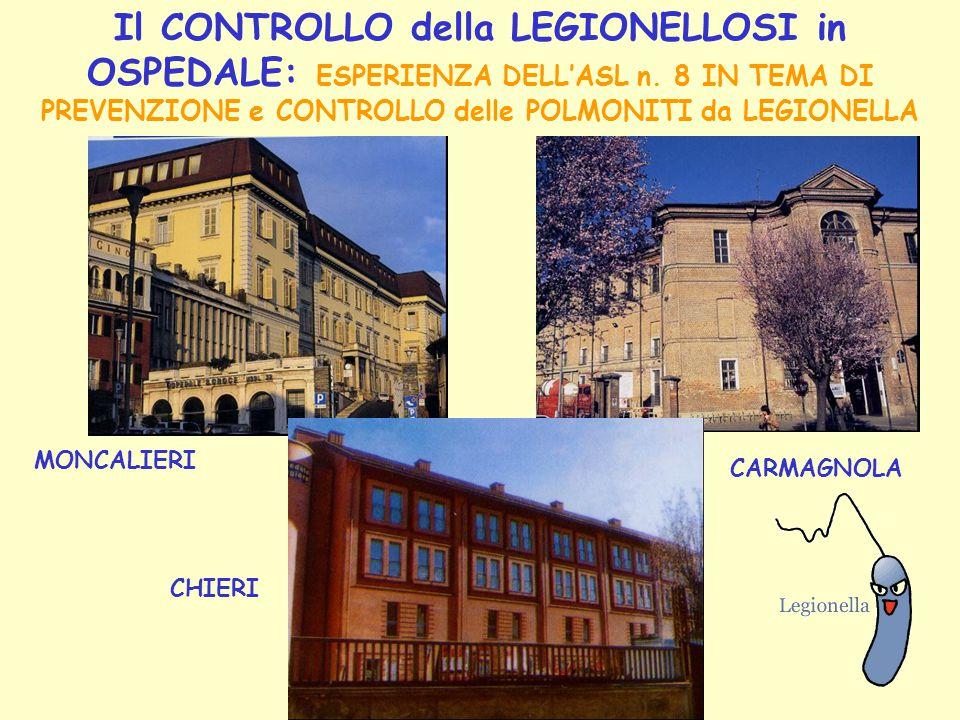 Il CONTROLLO della LEGIONELLOSI in OSPEDALE: ESPERIENZA DELL'ASL n
