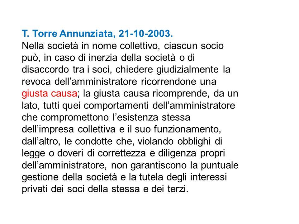 T. Torre Annunziata, 21-10-2003.