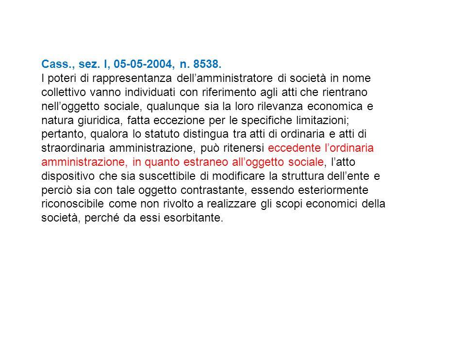 Cass., sez. I, 05-05-2004, n. 8538.