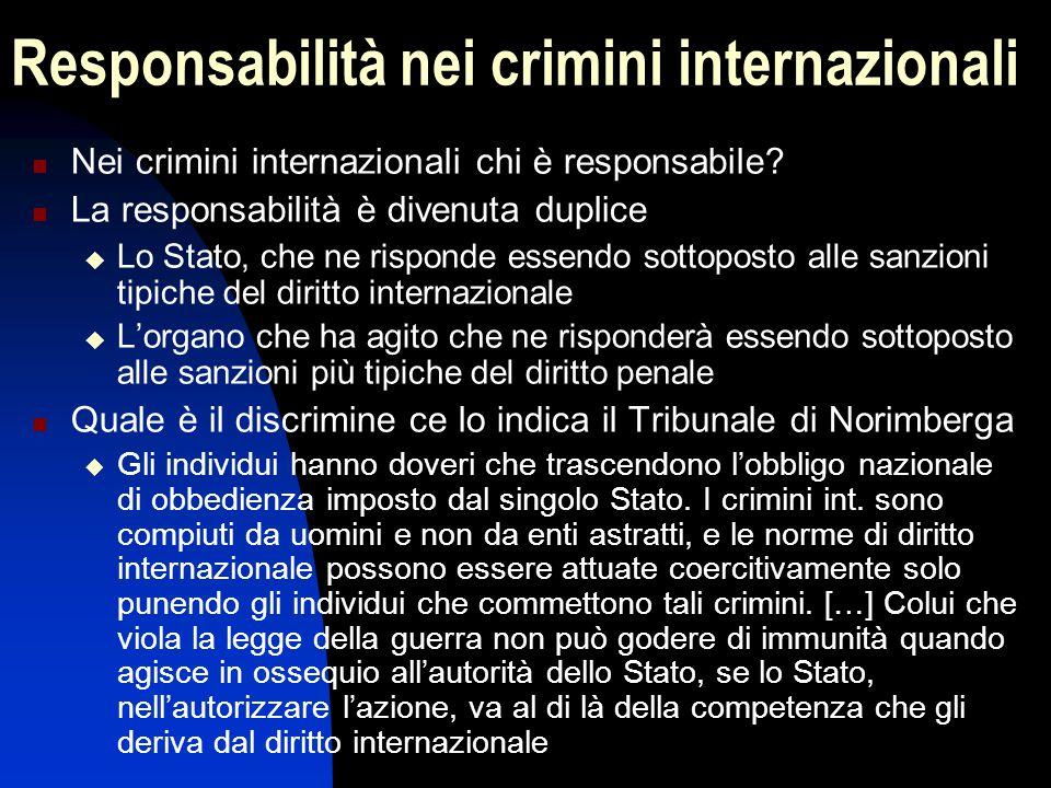 Responsabilità nei crimini internazionali