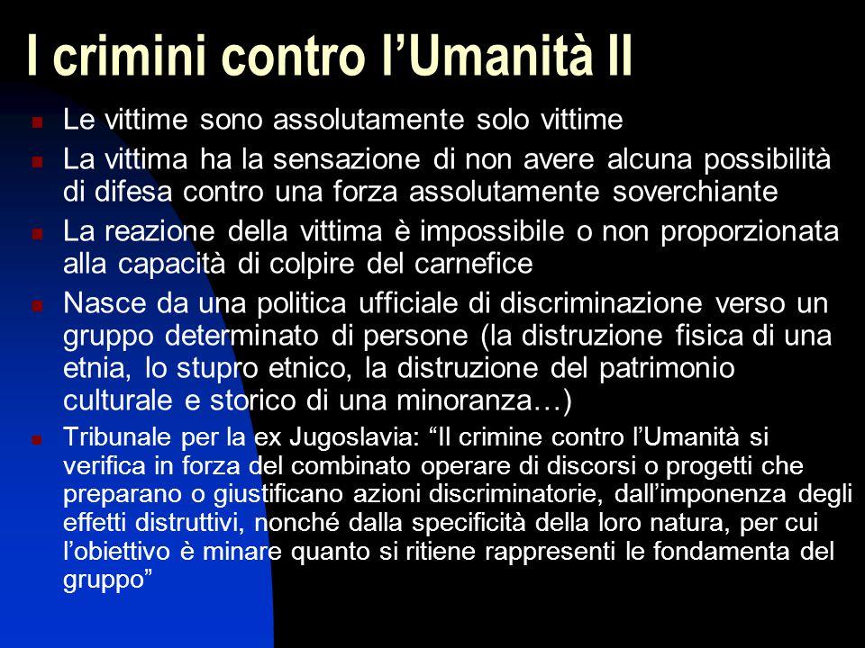 I crimini contro l'Umanità II