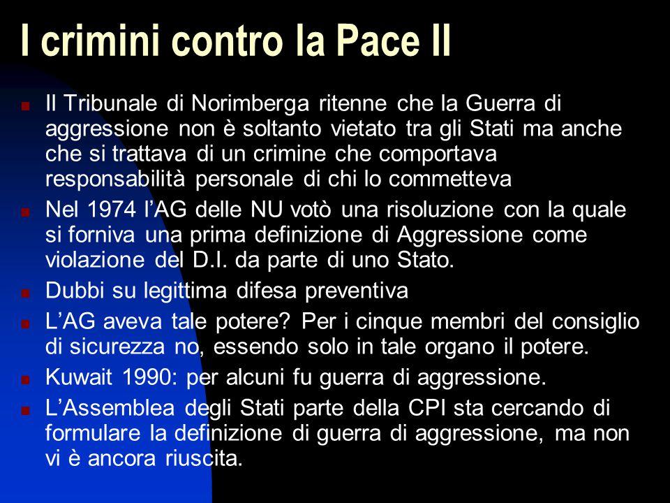 I crimini contro la Pace II