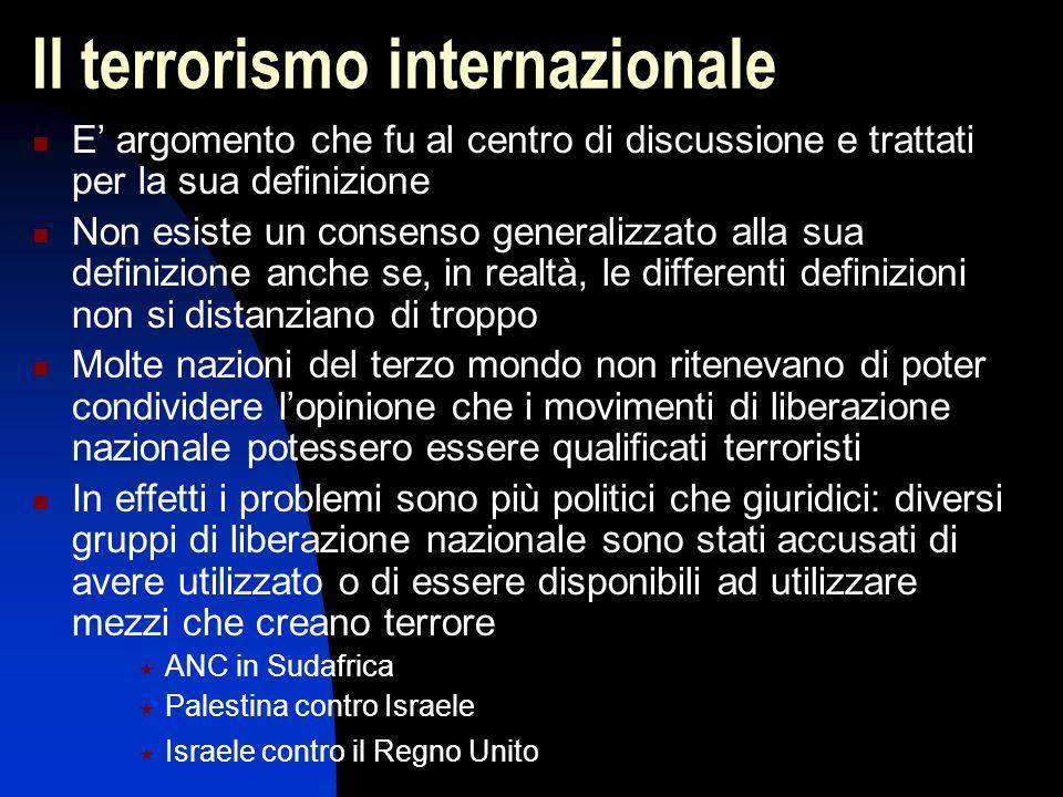Il terrorismo internazionale