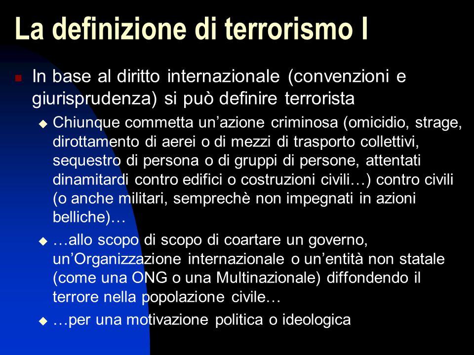 La definizione di terrorismo I